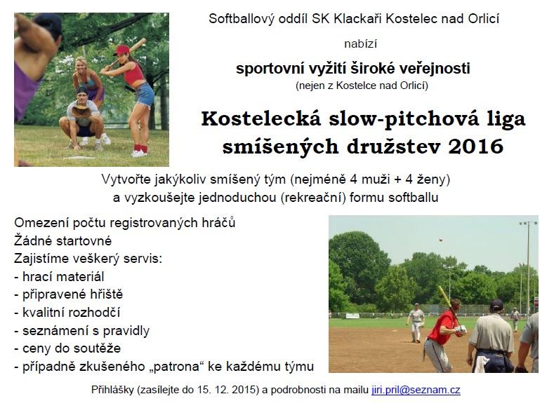 2015_slowpitch_nabidka_Kostelecka_liga_2016