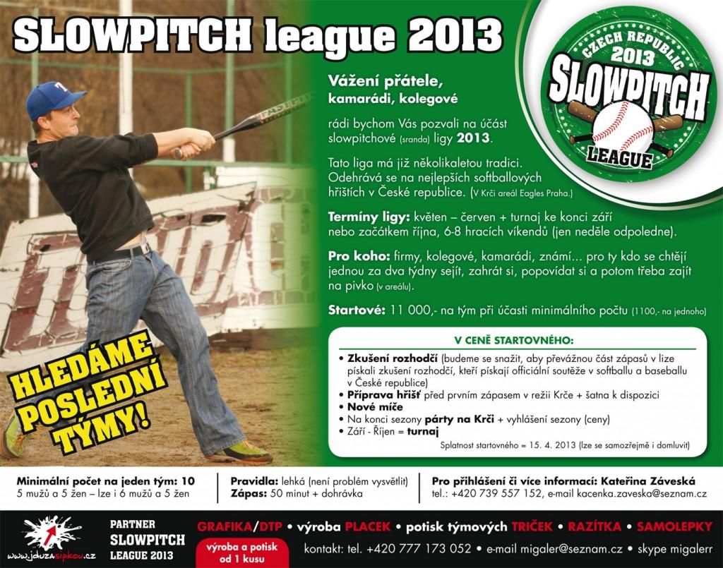 Slowpitchová liga na Krči 2013