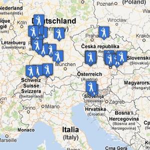 Slowpitchová mapa Evropy